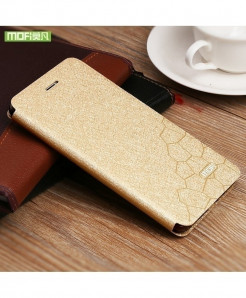 Mofi Gold Silicone Flip Leather Hard Case