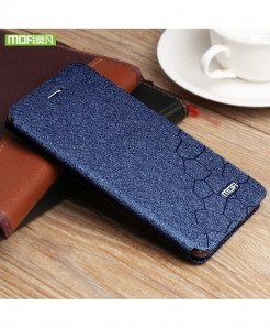 Mofi Blue Silicone Flip Leather Hard Case
