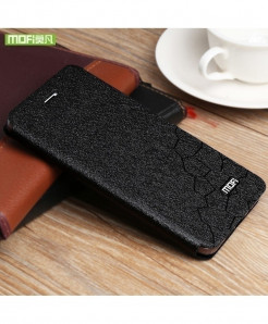 Mofi Black Silicone Flip Leather Hard Case