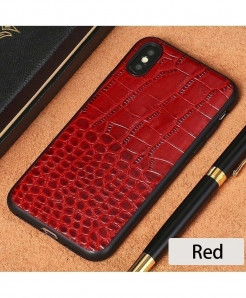 LANGSIDI Red Leather Explosion-Proof iPhone case