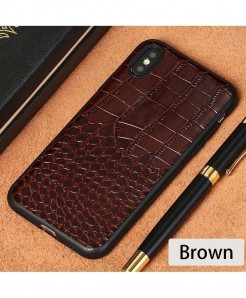 LANGSIDI Brown Leather Explosion-Proof iPhone case