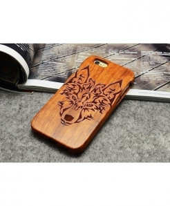 LYBALL Wolf Wooden Phone Case For iPhone