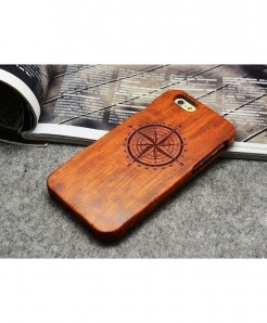 LYBALL Compass Wooden Phone Case For iPhone