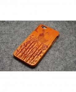 LYBALL Bird Wooden Phone Case For iPhone