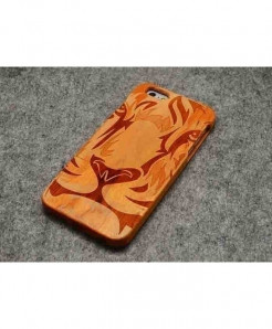 LYBALL Tiger Face Wooden Phone Case For iPhone