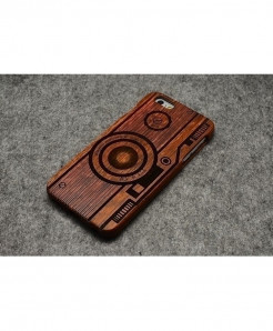 LYBALL Camera Wooden Phone Case For iPhone