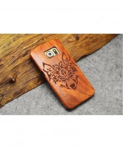 LYBALL Lion Wooden Phone Case Bamboo Hard Cover
