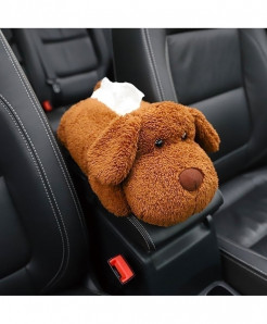 Younar Big Eared Dog Universal Car Armrest Box Tissue Box
