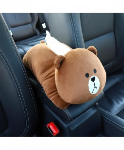Younar Little Bear Universal Car Armrest Box Tissue Box