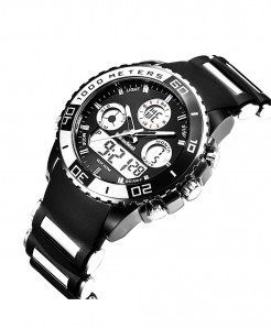 Readeel Black White LED Digital Quartz Watch