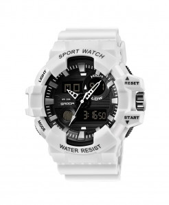 SANDA White Military Waterproof Quartz Watch