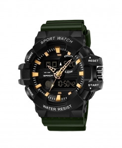SANDA Army Green Military Waterproof Quartz Watch