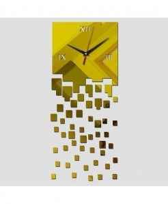 3D Gold Diy Mirror Acrylic Wall Clock Home Decoration