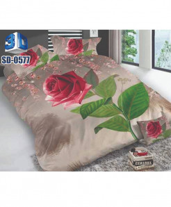3D Floral Stylish Design Bedsheet RB-0577