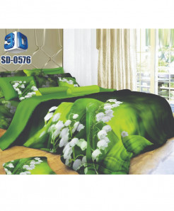 3D Dual Tone Floral Stylish Design Bedsheet RB-0576