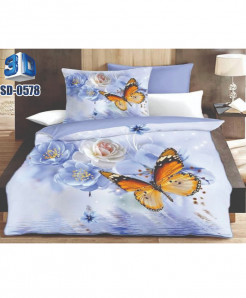 3D Butterfly Stylish Design Bedsheet RB-0578