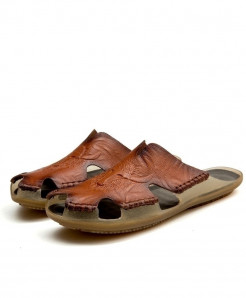 ZUNYU Dark Brown Non-slip Classic Slippers