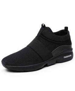AILONGKA Black Lightweight Breathable Mesh Casual Shoes