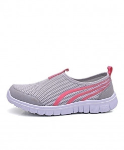 JIASHA Light Gray Breathable Slip on Athletic Sport Shoes