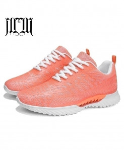 MUMUELI Orange Breathable Casual Shoes