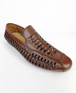 Brown Leather Sandals OM-5194