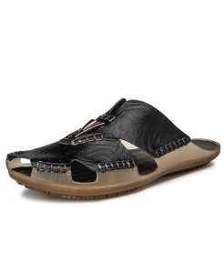 ZUNYU Black Buckle Non-slip Classic Slippers