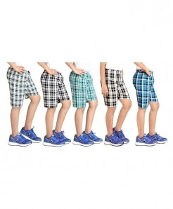 Pack Of 5 Checkered Shorts SIK-031