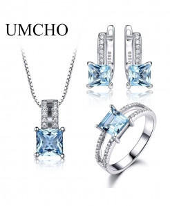 UMCHO Elegant 925 Sterling Silver Jewelry Set
