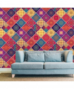 3D Colorful Pattern Wallpaper BNS-381