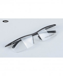 XINZE Black Titanium Optical Half Frame
