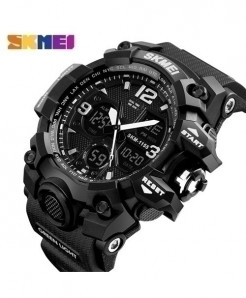 SKMEI Black Style Waterproof Casual Military Wrist Watch