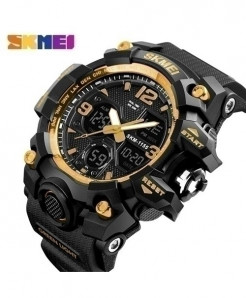 SKMEI Gold Style Waterproof Casual Military Wrist Watch