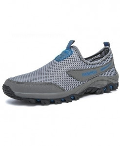 MAISMODA Light Gray Breathable Lightweight Mesh Shoes