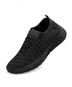 LEMAI All Black Breathable Lightweight Comfortable Shoes