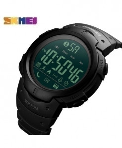 SKMEI Black Bluetooth Pedometer Smartwatch