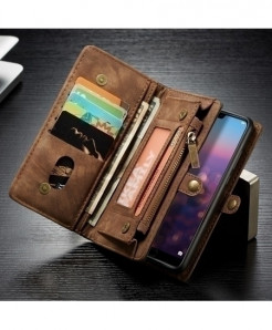 Caseme Brown Pro Flip PU Leather Phone Wallet