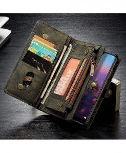 Caseme Black Pro Flip PU Leather Phone Wallet