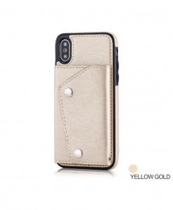 FTAIDKJ Gold Flip Case Phone Wallet