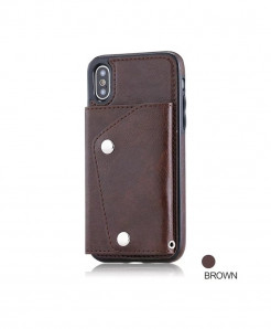 FTAIDKJ Brown Flip Case Phone Wallet