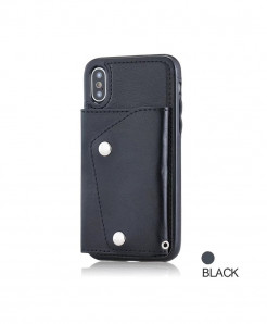 FTAIDKJ Black Flip Case Phone Wallet