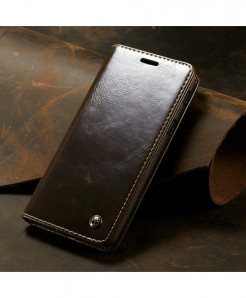 CaseMe Brown Magnetic Wallet Phone Case
