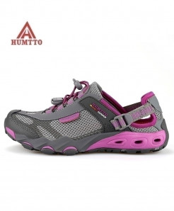 HUMTTO Gray Outdoor Breathable Hiking Sport Shoes