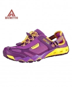 HUMTTO Purple Outdoor Breathable Hiking Shoes