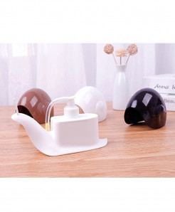 Pack of 2 Snail Portable Soap Shower Gel Container Dispenser