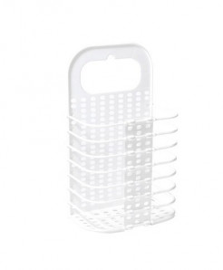 White Foldable Laundry Basket Organizer