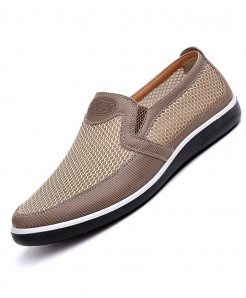 BURUIJING Brown Creepers Casual High End Slip-On Shoes