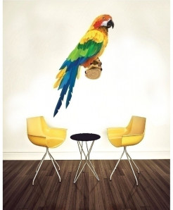 Parrot Stylish Design Wall Decal BNS-435