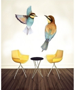 Two Birds Stylish Design Wall Decal BNS-434