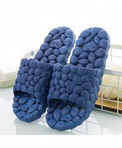 KESMALL Dark Blue Summer PVC Home Slippers