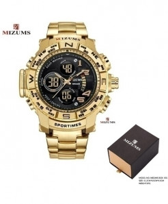 Mizums Golden Military Waterproof LED Digital Watch